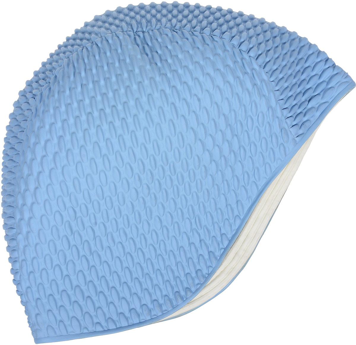 Шапочка для плавания Fashy Babble Cap, цвет: голубойУТ-00002731Fashy Bubble Cap 3115 - резиновая женская шапочка для плавания с объемным рисунком.Яркая оригинальная женская шапочка для купания. Поможет выделиться на занятиях в бассейне и на аквааэробике. Хорошо сидит на голове, препятствует попаданию волос в глаза при плавании и защищает от вредного воздействия хлорированной воды. Все изделие изготавливается из резины.Характеристики:Материал:резинаРазмер: универсальныйУпаковка: 10 шт. разных цветов