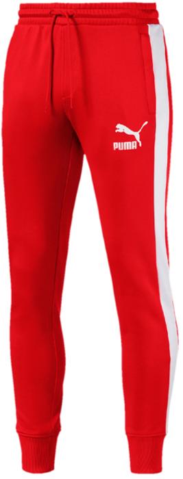 Брюки мужские Puma Archive T7 Track Pants, цвет: красный. 57265782. Размер XL (50/52)