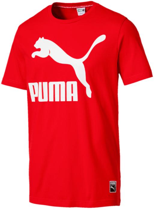 Футболка мужская Puma Archive Logo Tee, цвет: красный. 57239242. Размер XXL (52/54) футболка мужская puma bmw msp logo tee цвет белый 57277202 размер xl 50 52
