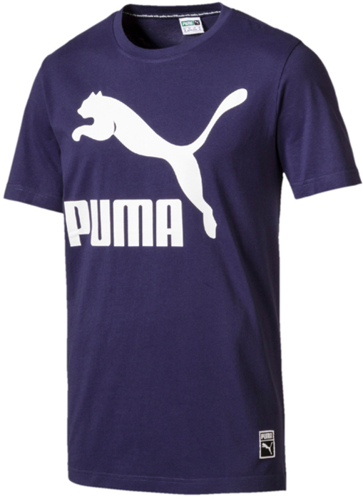 Футболка мужская Puma Archive Logo Tee, цвет: синий. 57239276. Размер XXL (52/54) футболка мужская puma bmw msp logo tee цвет белый 57277202 размер xl 50 52