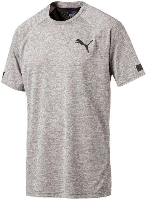 Футболка мужская Puma BND Tech SS Tee, цвет: серый. 51633504. Размер XXL (52/54) футболка мужская puma rebel basic tee цвет белый 85055402 размер xxl 52 54