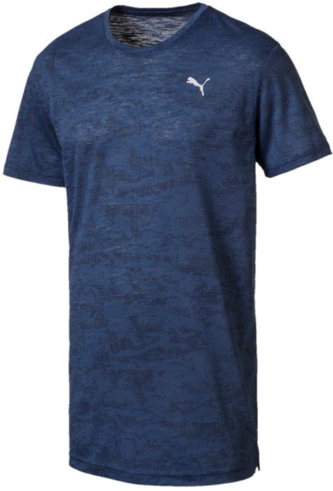 Футболка мужская Puma Drirelease Graphic Tee, цвет: синий. 51634803. Размер XXL (52/54) graphic print ringer tee
