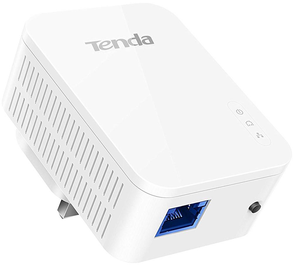 Tenda P3 адаптер PowerlineP3Адаптер PowerLine Tenda P3 AV1000 гигабитный Powerline адаптер. GE порт; совместимость с Home Plug