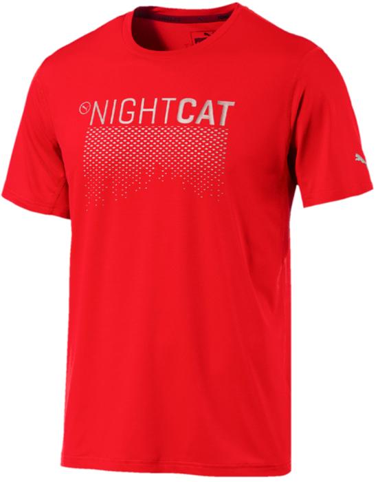 Футболка мужская Puma NightCat S S Tee, цвет: красный. 51649503. Размер XL (56/58) nivea гель для душа экстремальная свежесть 250 мл
