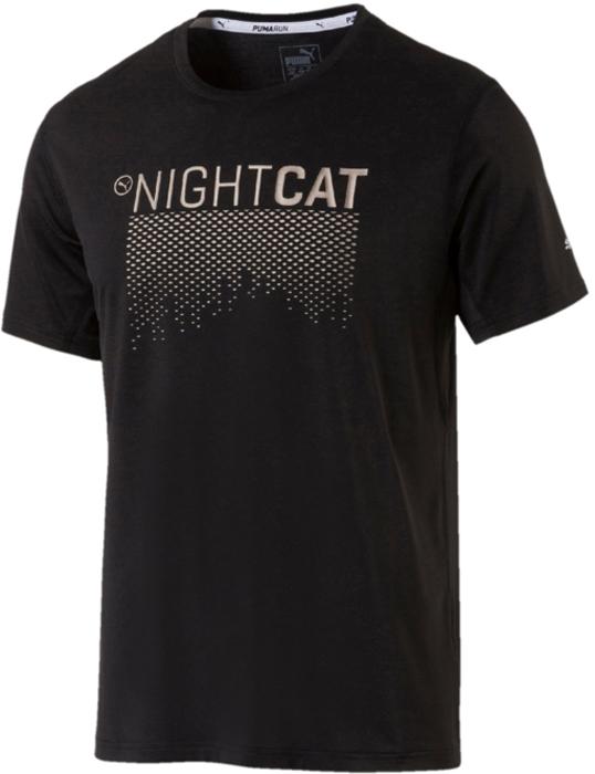 Футболка мужская Puma NightCat S S Tee, цвет: черный. 51649501. Размер XL (56/58)
