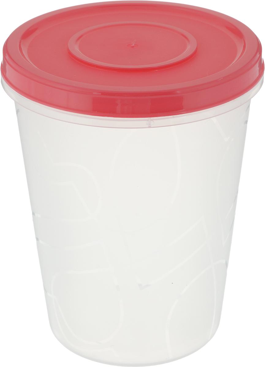 Емкость для продуктов Giaretti Микс зима, с завинчивающейся крышкой, цвет: красный, 1 лGR1889_красный