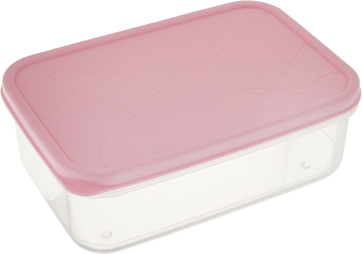 Контейнер для продуктов Giaretti Vitamino, прямоугольный, цвет: розовый, 500 млGR1849_розовый