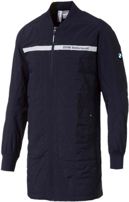 Куртка мужская Puma BMW MS Night SpeedCat Evo Jt, цвет: темно-синий. 57525501. Размер M (46/48)57525501Куртка Puma BMW MS Night SpeedCat Evo Jt изготовлена из быстросохнущего нейлона, декорирована набивным логотипом BMW, печатной эмблемой BMW, а также логотипом PUMA, нанесенным методом печати высокой плотности. Куртка застегивается на молнию, имеет два боковых кармана с застежкой молнией.