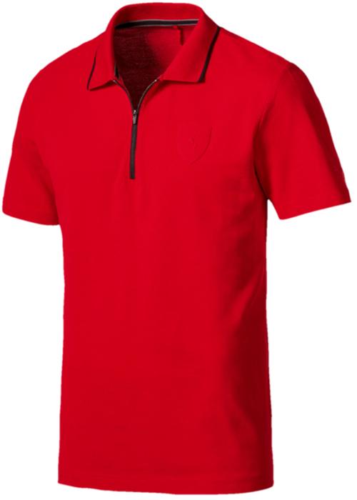 Поло мужское Puma Ferrari Polo, цвет: красный. 57524002. Размер XXL (52/54)