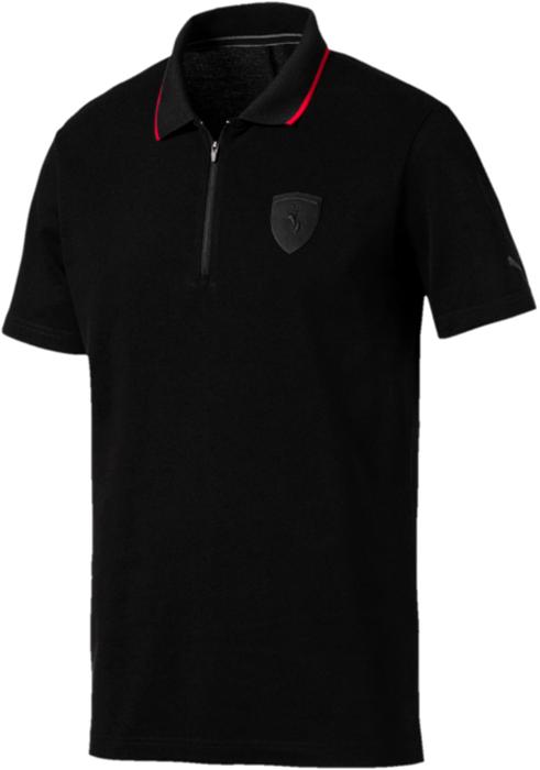 Поло мужское Puma Ferrari Polo, цвет: черный. 57524001. Размер XL (50/52)