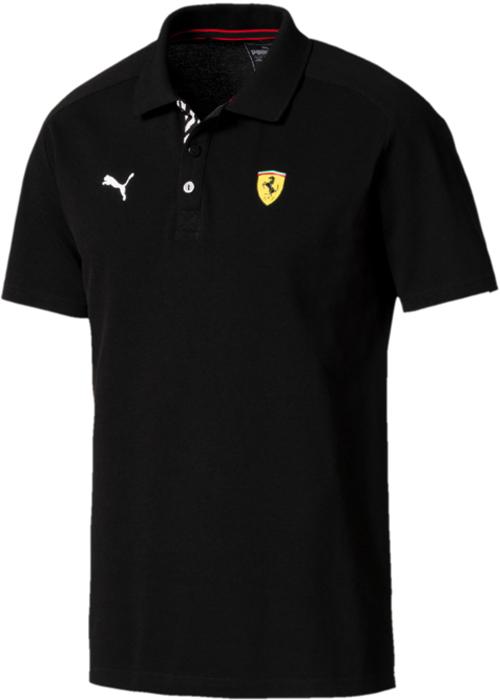 Поло мужское Puma SF Polo, цвет: черный. 76238702. Размер M (46/48)76238702Стильное поло Puma SF Polo изготовлено из высоко функционального материала, впитывающего влагу, декорировано вышитым логотипом.Обязательно понравится любителям автоспорта и поклонникам Ferrari. Поло отлично дополнит ваш повседневный образ.