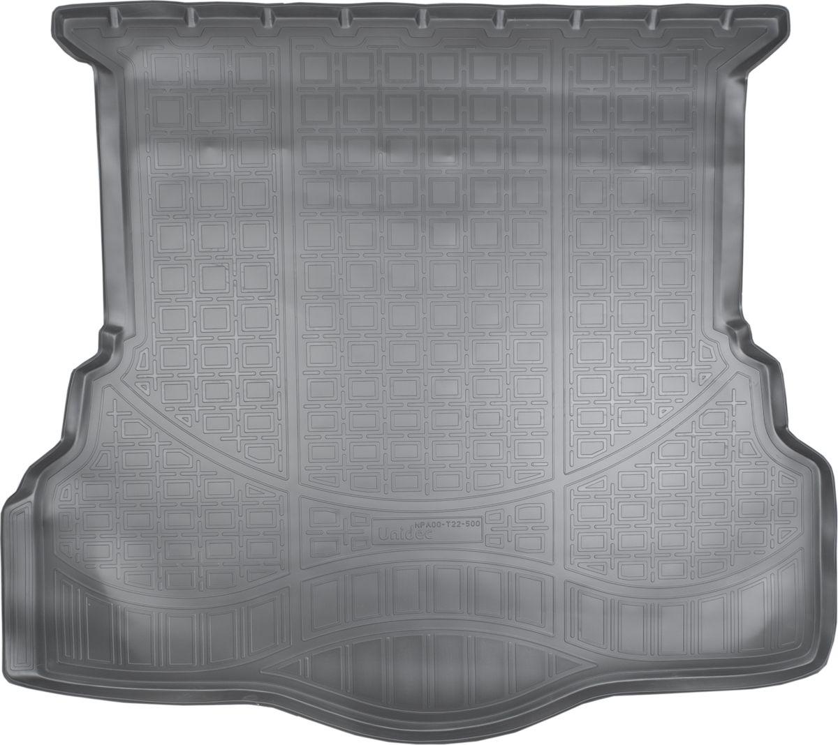 Ковер автомобильный NorPlast, в багажник, для Ford Mondeo, 2013-, V SD, полиуретанNPA00-T22-500Прочные и долговечные коврики в салон автомобиля NorPlast, изготовленный из высококачественного и экологичного сырья, полностью повторяет геометрию салона автомобиля. - Надежная система крепления, позволяющая закрепить коврик на штатные элементы фиксации, в результате чего отсутствует эффект скольжения по салону автомобиля. - Высокая стойкость поверхности к стиранию. - Специализированный рисунок и высокий борт, препятствующие распространению грязи и жидкости по поверхности коврика. - Перемычка задних ковриков в комплекте предотвращает загрязнение тоннеля карданного вала. - Произведены из первичных материалов, в результате чего отсутствует неприятный запах в салоне автомобиля. - Высокая эластичность, можно беспрепятственно эксплуатировать при температуре от -45°C до +45°C.