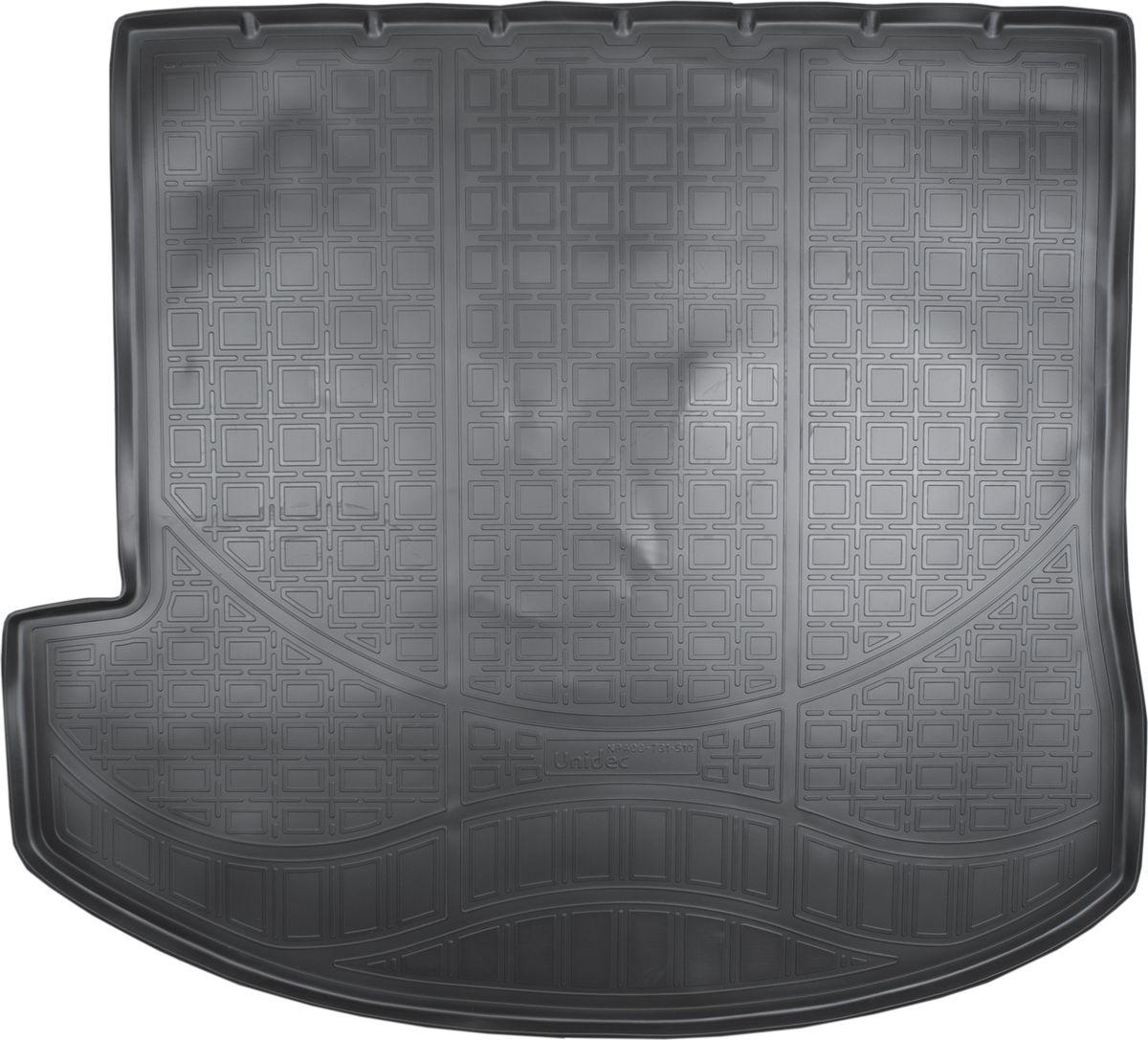 Ковер автомобильный NorPlast, в багажник, для Hyundai Grand Santa Fe, 2013-, полиуретанNPA00-T31-510Прочные и долговечные коврики в салон автомобиля NorPlast, изготовленный из высококачественного и экологичного сырья, полностью повторяет геометрию салона автомобиля. - Надежная система крепления, позволяющая закрепить коврик на штатные элементы фиксации, в результате чего отсутствует эффект скольжения по салону автомобиля. - Высокая стойкость поверхности к стиранию. - Специализированный рисунок и высокий борт, препятствующие распространению грязи и жидкости по поверхности коврика. - Перемычка задних ковриков в комплекте предотвращает загрязнение тоннеля карданного вала. - Произведены из первичных материалов, в результате чего отсутствует неприятный запах в салоне автомобиля. - Высокая эластичность, можно беспрепятственно эксплуатировать при температуре от -45°C до +45°C.