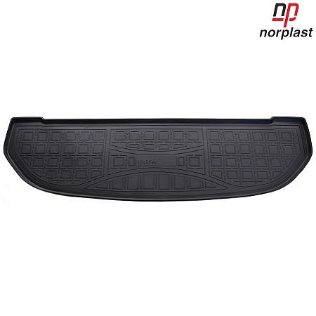 Ковер автомобильный NorPlast, в багажник, для Kia Sorento, 2015-, 3D, полиуретан. NPA00-T43-652NPA00-T43-652Прочные и долговечные коврики в салон автомобиля NorPlast, изготовленный из высококачественного и экологичного сырья, полностью повторяет геометрию салона автомобиля. - Надежная система крепления, позволяющая закрепить коврик на штатные элементы фиксации, в результате чего отсутствует эффект скольжения по салону автомобиля. - Высокая стойкость поверхности к стиранию. - Специализированный рисунок и высокий борт, препятствующие распространению грязи и жидкости по поверхности коврика. - Перемычка задних ковриков в комплекте предотвращает загрязнение тоннеля карданного вала. - Произведены из первичных материалов, в результате чего отсутствует неприятный запах в салоне автомобиля. - Высокая эластичность, можно беспрепятственно эксплуатировать при температуре от -45°C до +45°C.