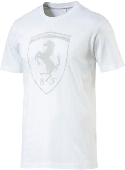 Футболка мужская Puma Ferrari Big Shield Tee, цвет: белый. 57524104. Размер XXL (52/54)