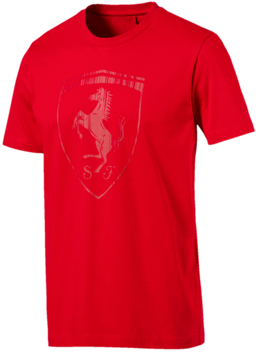 Футболка мужская Puma Ferrari Big Shield Tee, цвет: красный. 57524102. Размер XXL (52/54) футболка мужская puma rebel basic tee цвет белый 85055402 размер xxl 52 54