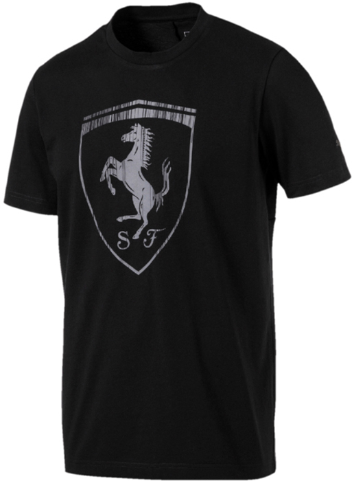 Футболка мужская Puma Ferrari Big Shield Tee, цвет: черный. 57524101. Размер XXL (52/54)