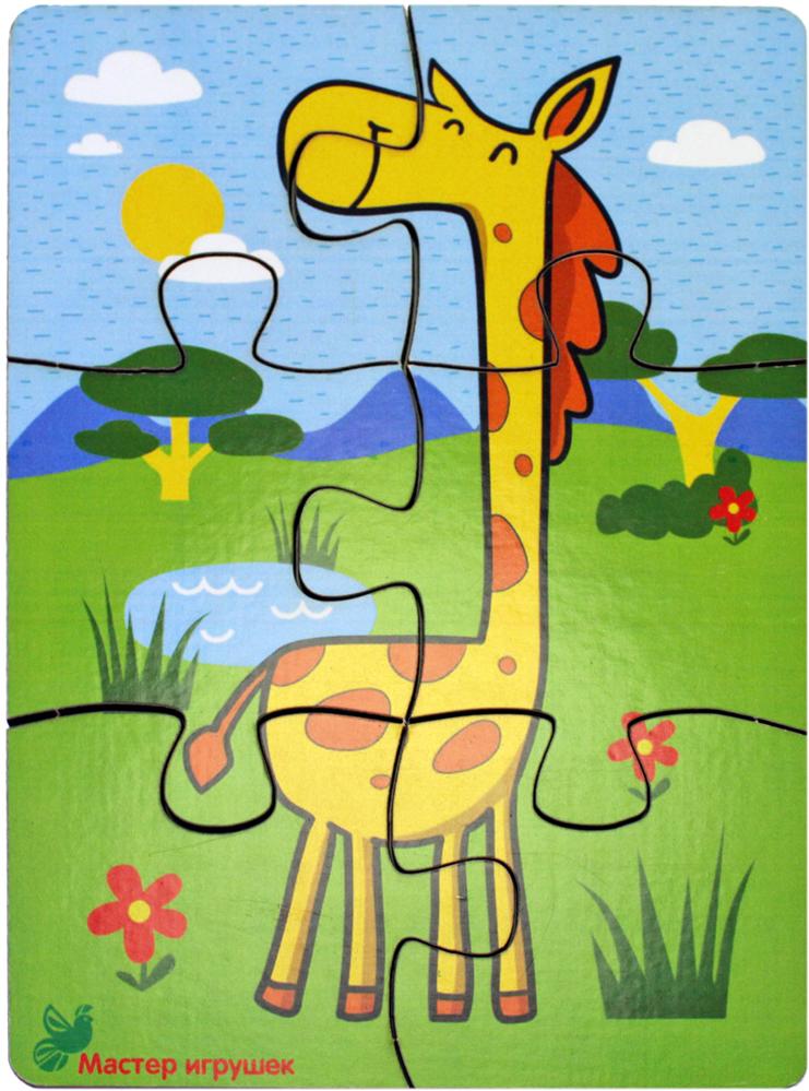 Фабрика Мастер игрушек Пазл для малышей Жираф фабрика мастер игрушек пазл для малышей алфавит русский пазл