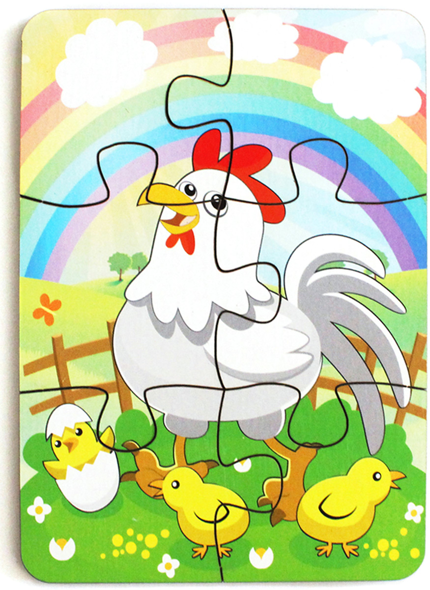 Фабрика Мастер игрушек Пазл для малышей Курица и радуга фабрика мастер игрушек пазл для малышей алфавит русский пазл