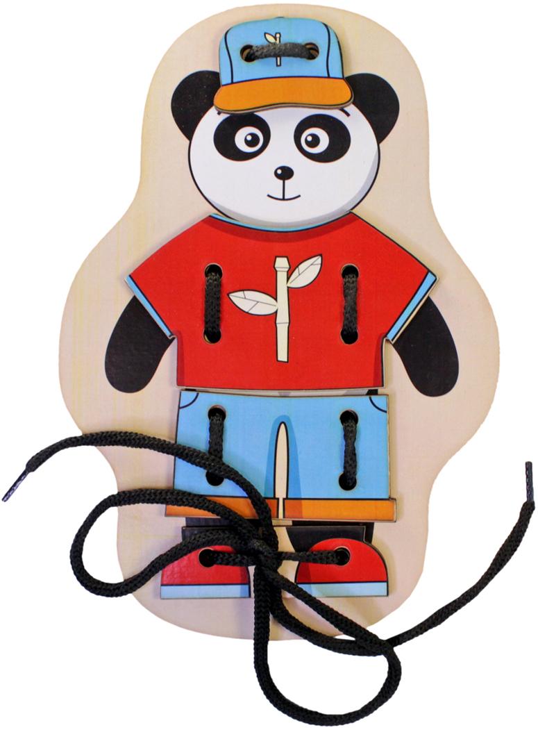 Фабрика Мастер игрушек Игра-шнуровка Панда мастер вуд игра шнуровка пуговичка цвет синий желтый