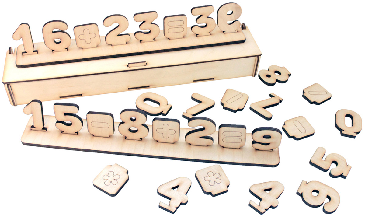 Фабрика Мастер игрушек Развивающая игра Цифры на подставке фабрика мастер игрушек развивающая игра домино тропические животные