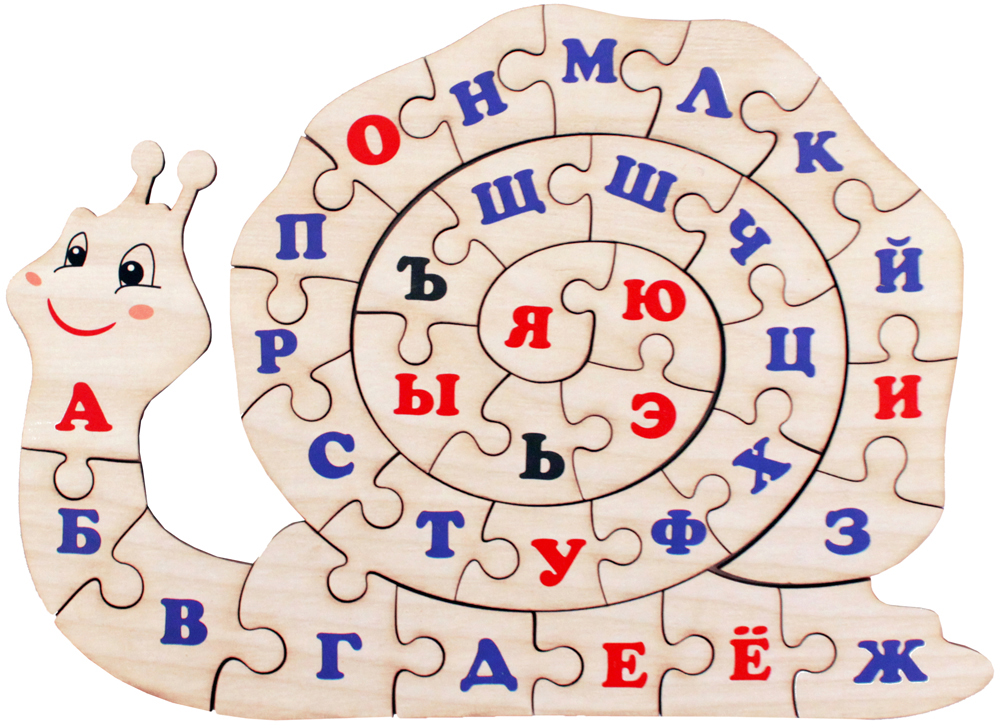 Фабрика Мастер игрушек Пазл для малышей Алфавит русский Улитка мастер игрушек