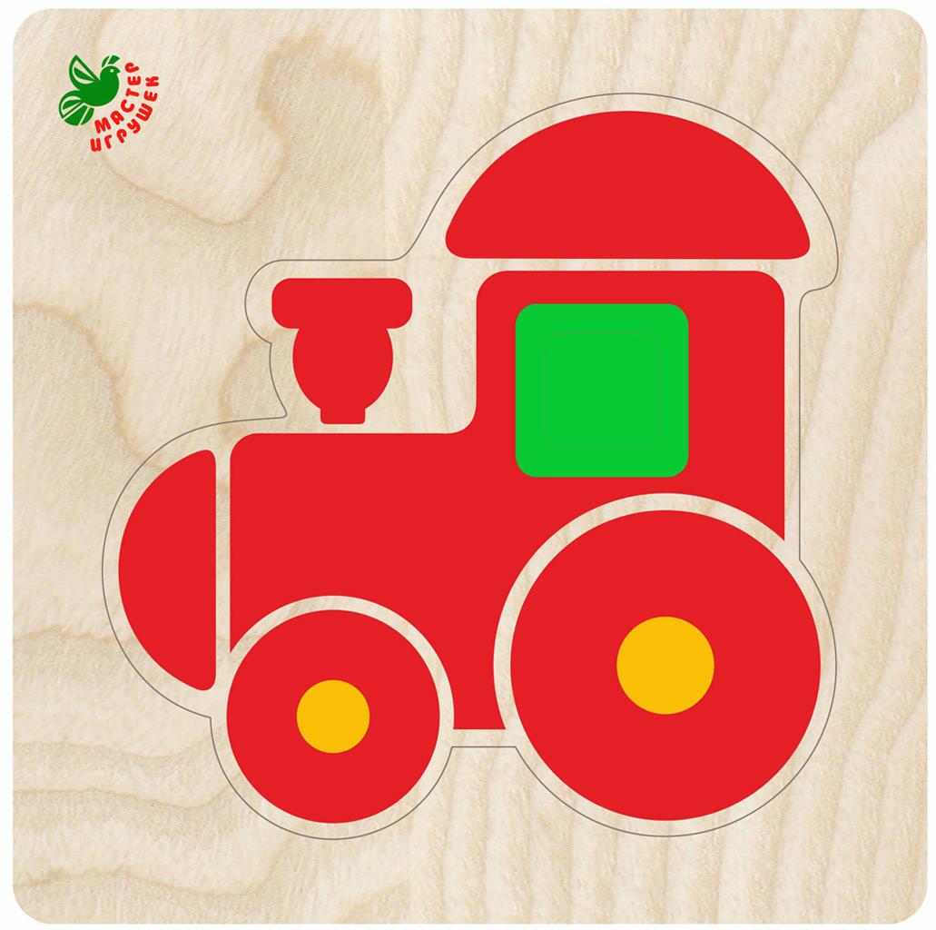 Фабрика Мастер игрушек Рамка-вкладыш Пирамидка-паровозик фабрика мастер игрушек рамка вкладыш водоем