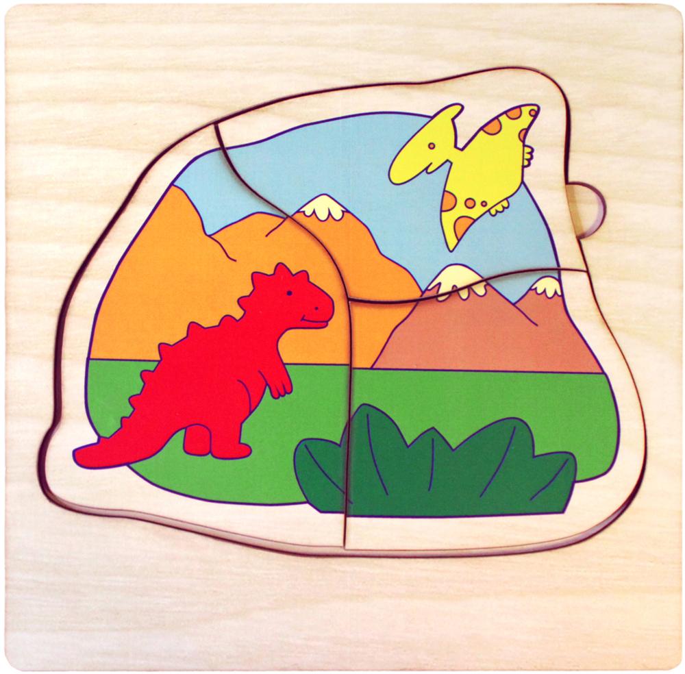 Фабрика Мастер игрушек Пазл многоуровневый Мир динозавров фабрика мастер игрушек пазл для малышей алфавит русский пазл