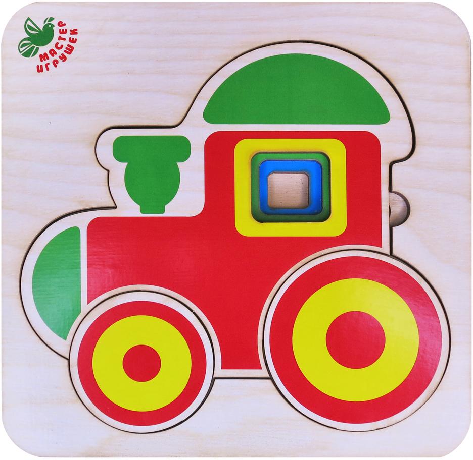 Фабрика Мастер игрушек Пазл многоуровневый Паровозик фабрика мастер игрушек пазл для малышей алфавит русский пазл