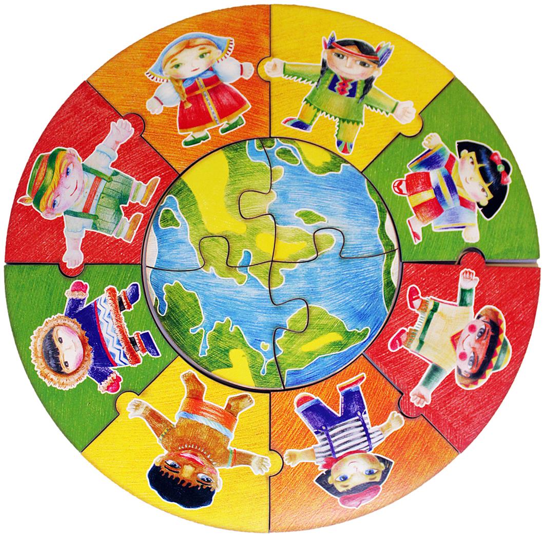 Фабрика Мастер игрушек Пазл для малышей Народы мира фабрика мастер игрушек пазл для малышей алфавит русский пазл