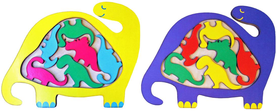Фабрика Мастер игрушек Головоломка Динозаврик цветной мастер игрушек водоем