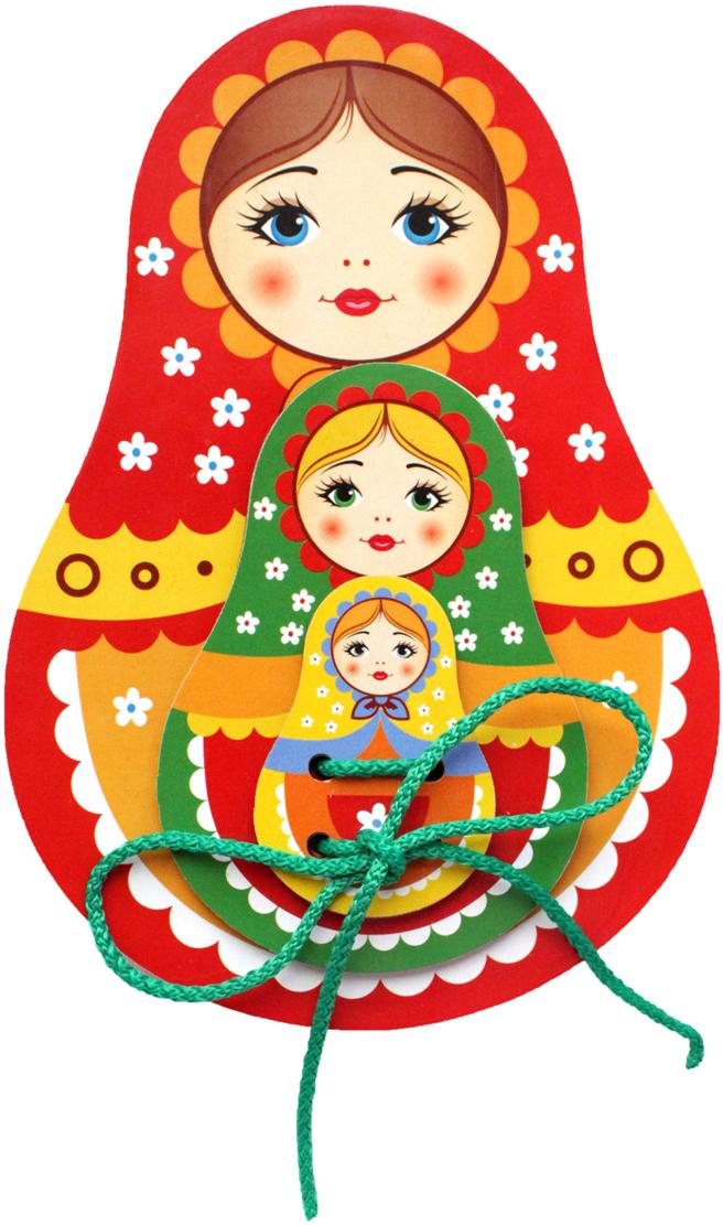 Фабрика Мастер игрушек Игра-шнуровка Матрешка