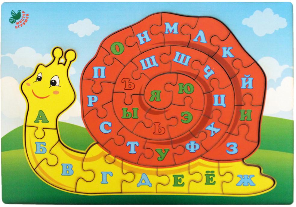 Фабрика Мастер игрушек Пазл для малышей Улитка фабрика мастер игрушек пазл для малышей алфавит русский пазл