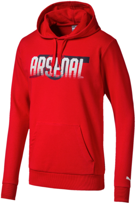 Худи мужское Puma Arsenal FC Fan CANNON Hoody, цвет: красный. 75266401. Размер XXL (52/54) ilife v7s plus robot vacuum cleaner with self charge wet mopping for wood floor