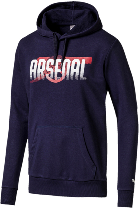 Худи мужское Puma Arsenal FC Fan CANNON Hoody, цвет: синий. 75266402. Размер XXL (52/54) футболка puma arsenal training jersey 751711031