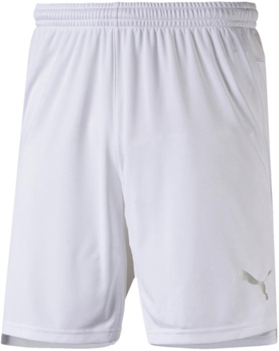 Шорты мужские Puma ftblNXT Shorts, цвет: белый. 65557305. Размер XL (50/52)65557305Разработана для футбола. Подходит на все случаи жизни! Наша прогрессивная коллекция футбольной экипировки ftblNXT гарантирует максимум удобства для футболистов в дни матчей, на тренировках и на отдыхе. В коллекцию, в частности, входят шорты, декорированные логотипом PUMA, нанесенным на левую штанину методом термопечати. Высокий пояс из эластичного материала снабжен затягивающимся шнуром. Шорты имеют стандартную посадку. Они изготовлены из высокофункционального материала dryCELL.