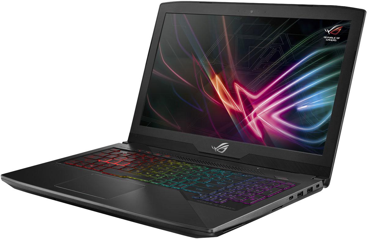 ASUS ROG GL503VD (GL503VD-FY374)GL503VD-FY374ASUS ROG GL503VD - это новейший процессор Intel Core и геймерская видеокарта NVIDIA в компактном и легкомкорпусе. С этим мобильным компьютером вы сможете играть в любимые игры где угодно.Четырехъядерный процессор Intel Core i5 7-го поколения и графическая карта NVIDIA GeForce GTX 1050обеспечивают производительность, столь же мощную, как и игровое мастерство.ROG GL503VD имеет блестящую широкоэкранную панель, которая на 50% ярче конкурирующих моделей, ипредлагает 100% цветовой диапазон sRGB - так что она идеально подходит для всех жанров игр. Он такжеоснащен широкоформатной панельной технологией, позволяющей четко видеть под любым углом до 178градусов.Ноутбук также поставляется с ROG GameVisual, простым в использовании инструментом, который содержитшесть пресетов, которые применяют ваши предпочтения для различных жанров игры, повышая резкость ицветопередачу.ASUS AURA - это комбинация программного обеспечения для подсветки и управления RGB, которое позволяетвам настроить свой игровой стиль. Подсветка разделяется между четырьмя зонами, которые могут бытьнастроены независимо или синхронизированы гармонично. Доступны статические, и цветовые режимы.ASUS ROG GL503VDобеспечивает четкое и четкое звучание с помощью встроенных динамиков, чтообеспечивает мощный звук даже без наушников.Встроенная технология интеллектуального усилителя обеспечивает громкость звука в игре - до 200% болеевысокого уровня - и минимизирует искажения для обеспечения бесперебойной работы. Система автоматическиконтролирует и уменьшает интенсивность вывода, чтобы предотвратить потенциальный ущерб от перегреваили перегрузки.Ноутбук имеет интеллектуальный дизайн, в котором используются несколько тепловых труб и двухвентиляторов, чтобы максимизировать производительность процессора и графического процессора. Этопозволяет запускать CPU и GPU на полной скорости без теплового дросселирования, а это означает, что выбудете наслаждаться полной стабильностью во время самых