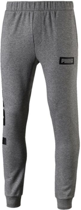 Брюки спортивные мужские Puma Rebel Sweat Pants Tr, цвет: серый. 85009003. Размер XXL (52/54)
