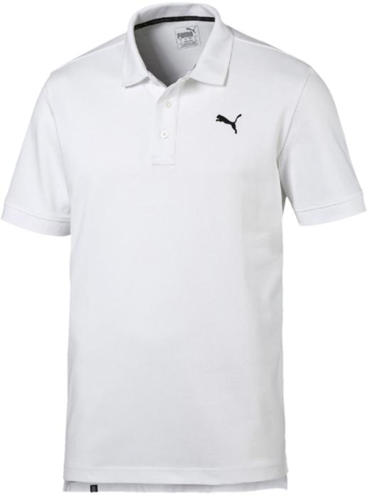 Поло мужское Puma ESS Pique Polo, цвет: белый. 83824802. Размер XXL (52/54)
