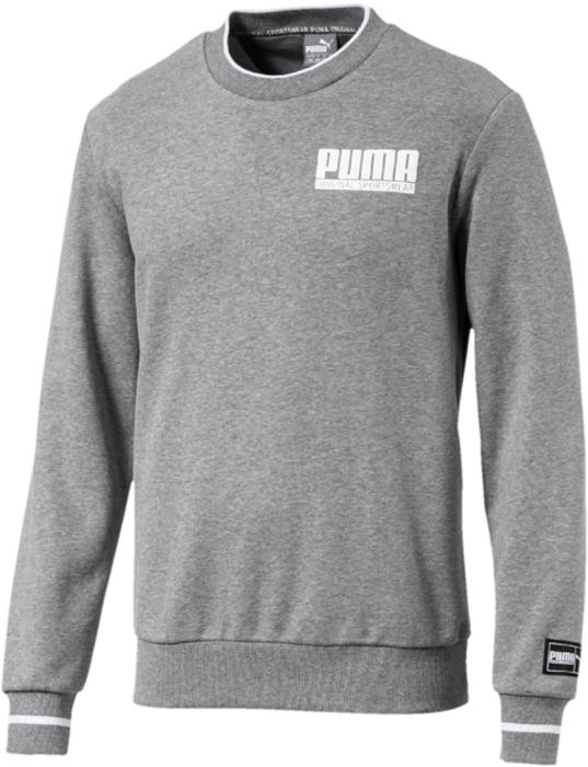 Свитшот мужской Puma Style Athletics Fabrc Crw Tr, цвет: серый. 85005503. Размер XXL (52/54) полотенца банные puma полотенце puma tr towel