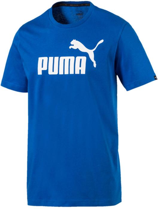 Футболка мужская Puma ESS No.1 Tee, цвет: лазурный. 83824175. Размер XL (50/52) футболка мужская puma bmw msp logo tee цвет белый 57277202 размер xl 50 52