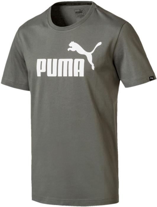 Купить Футболка мужская Puma ESS No.1 Tee, цвет: серо-зеленый. 83824188. Размер L (48/50)
