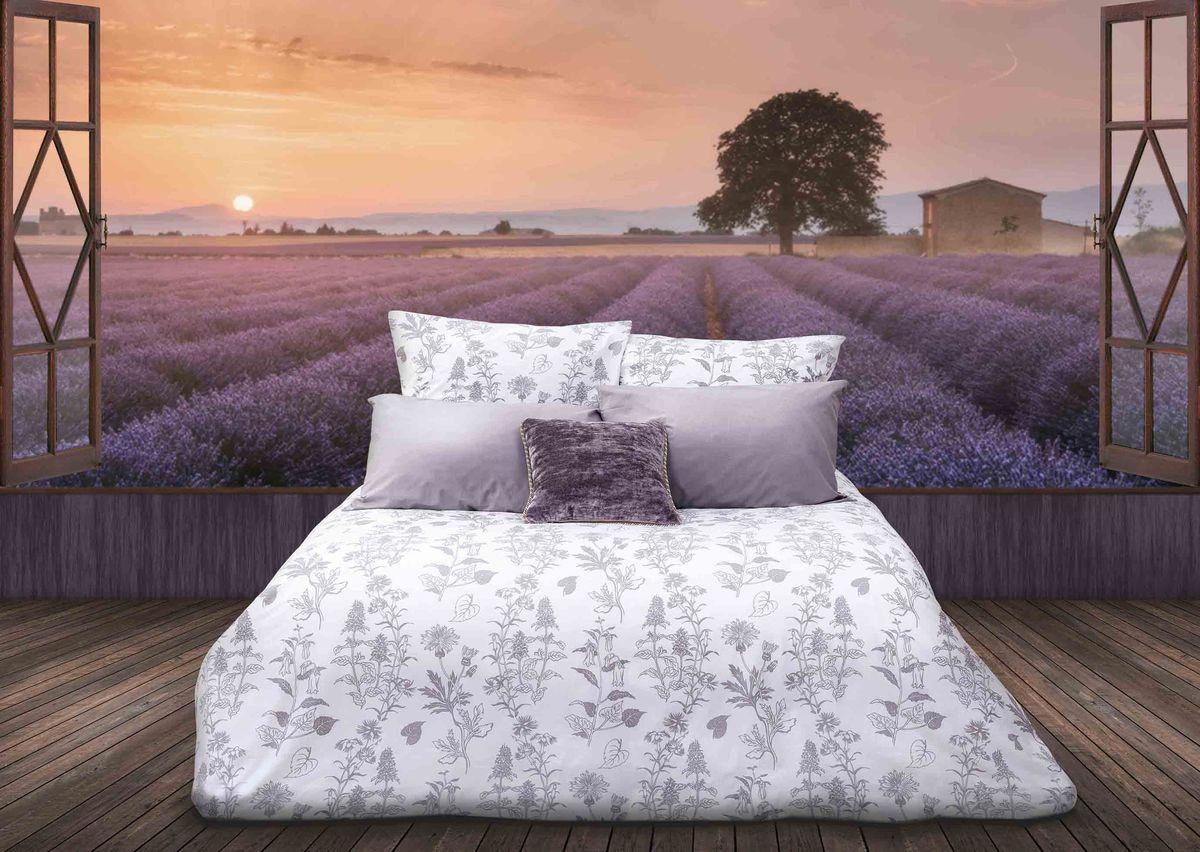 Комплект белья Sova & Javoronok Французский шарм, 1,5-спальный, наволочки 70х70, цвет: серый, белый кпб шедевр р 1 5 сп
