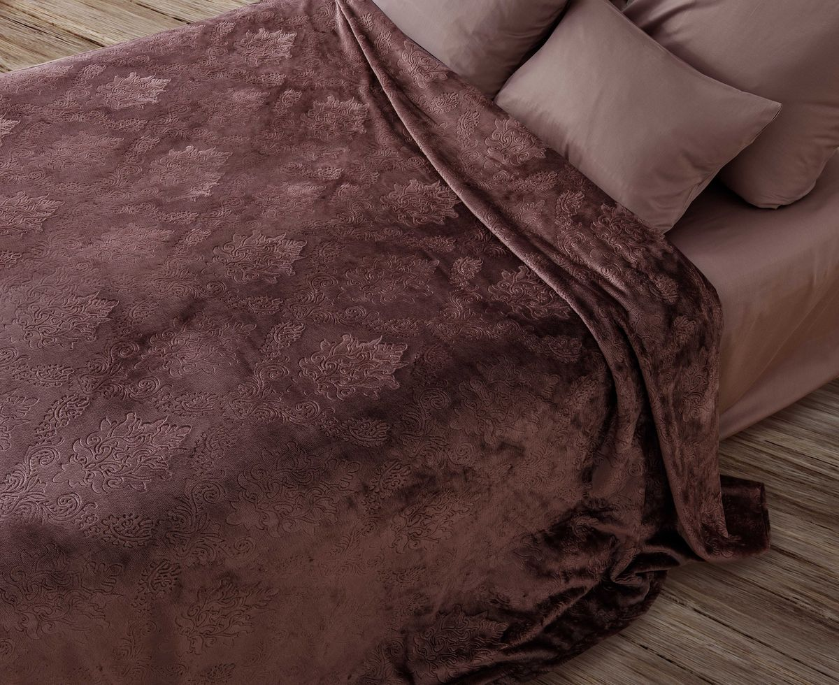 Покрывало Sova & Javoronok Уютное гнездышко. Дикая слива, цвет: коричневый, 180 х 200 см sova