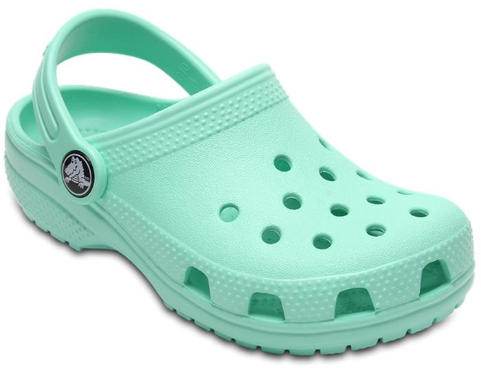 Сабо детские Crocs Classic Clog K, цвет: светло-зеленый. 204536-3P7. Размер C12 (29/30)
