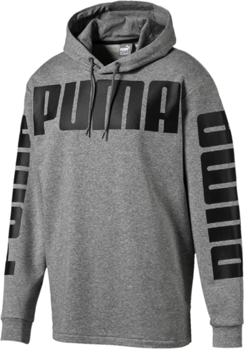 Худи мужское Puma Rebel Hoody Tr, цвет: серый. 85007803. Размер XXL (52/54) cute baby boys girls cloth sets cartoon dragon print summer kids t shirt shorts suits children clothing set