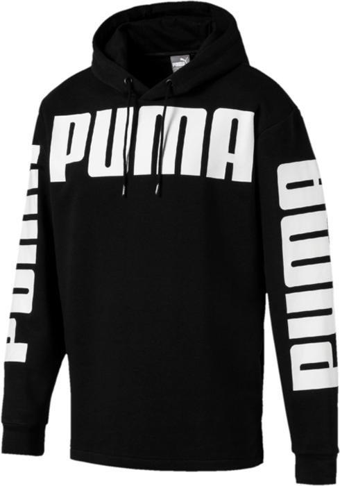 Купить Худи мужское Puma Rebel Hoody Tr, цвет: черный. 85007801. Размер M (46/48)