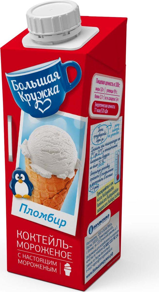 Большая Кружка Коктейль-мороженое с настоящим мороженым, 3%, 250 мл холст 60x90 printio lady deadpool