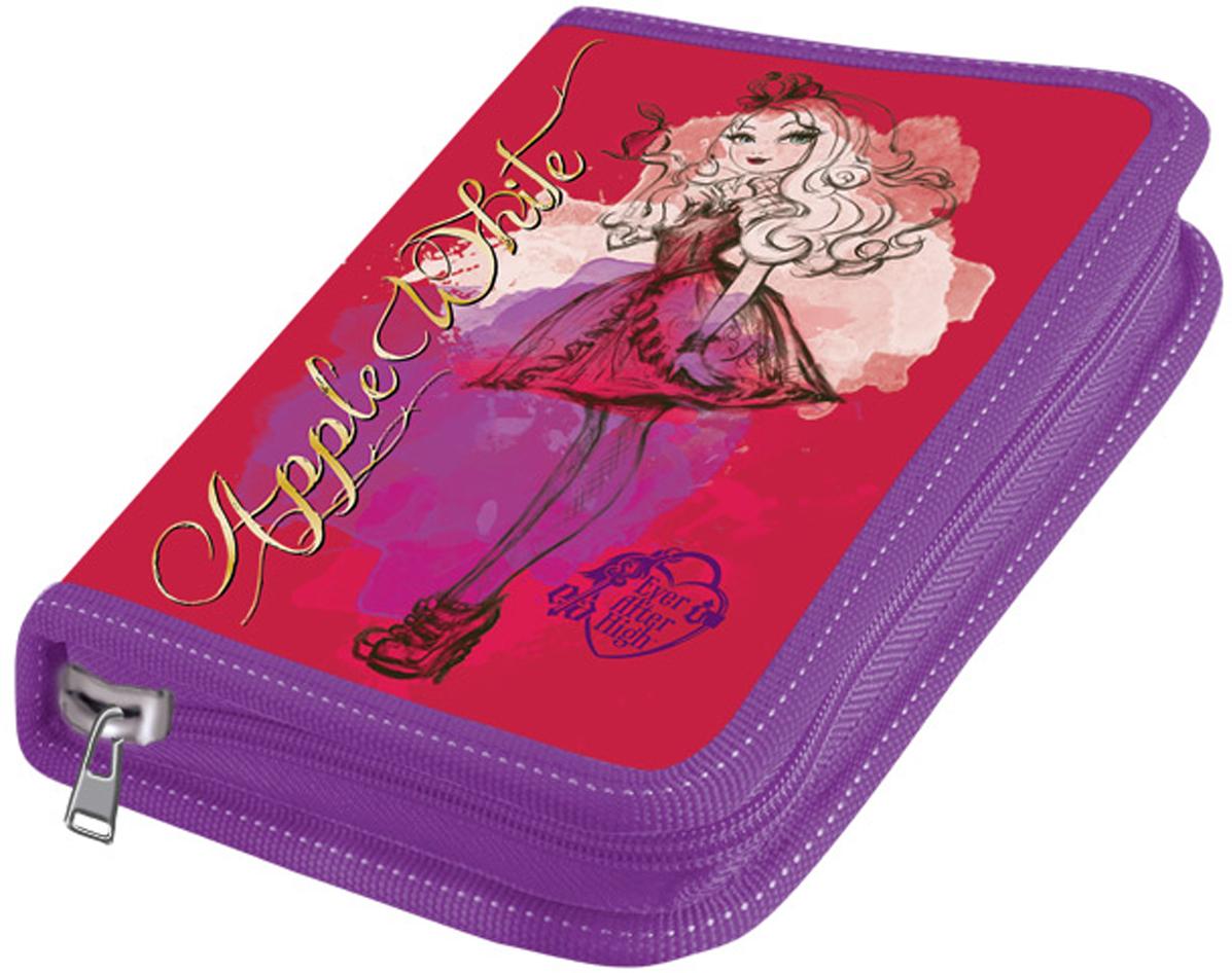 Mattel Пенал Ever After High с наполнением 17 предметов цвет фиолетовый, розовый4250609(-)Пенал 2-х створчатый широкий Mattel Ever After High наполненный, 17 предметов полипропиленовое покрытие
