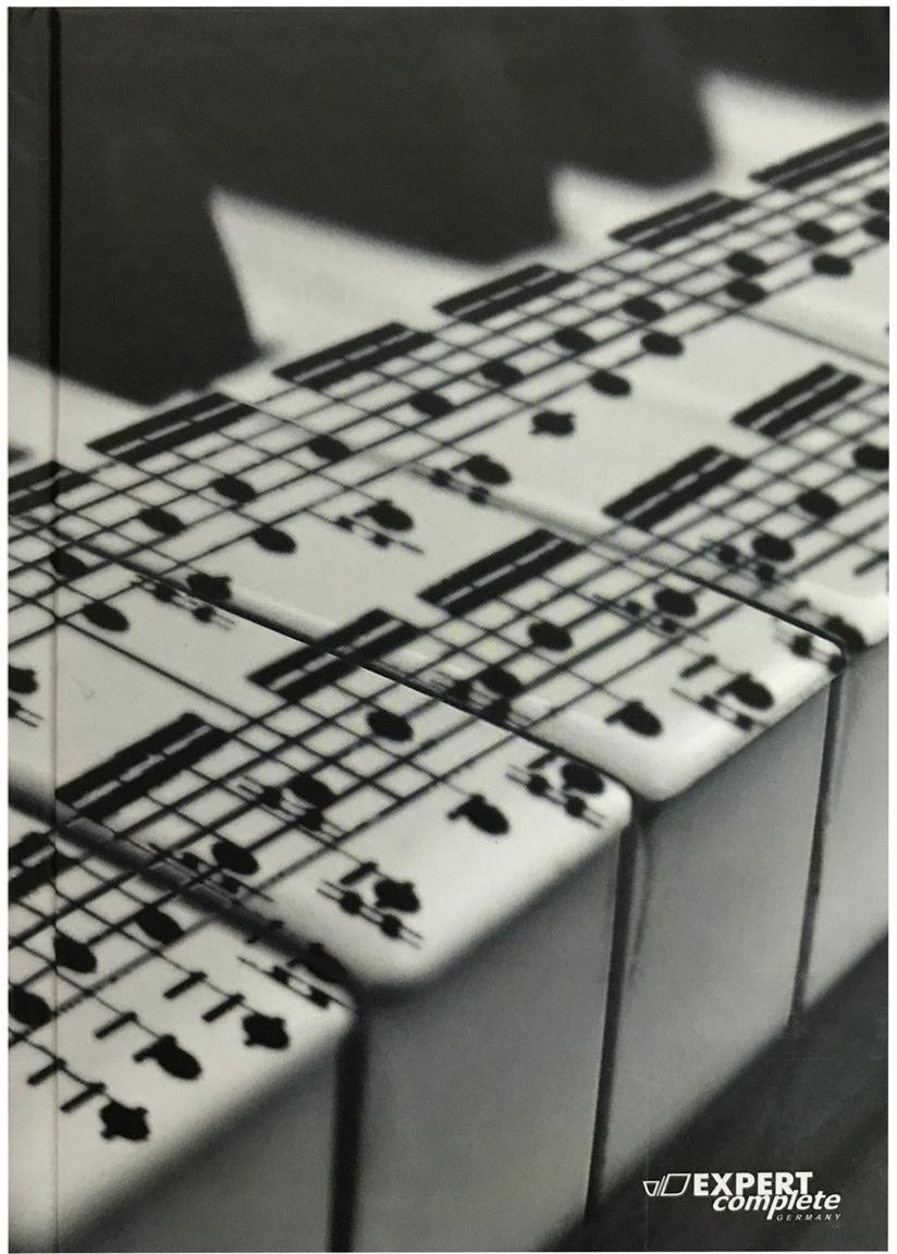 Expert Complete Ежедневник Music недатированный 288 листов цвет черный серый формат A5 maestro de tiempo ежедневник novela недатированный 288 листов цвет темно серый формат a5